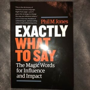 """""""Exactly what to say"""" by Phil M. Jones"""
